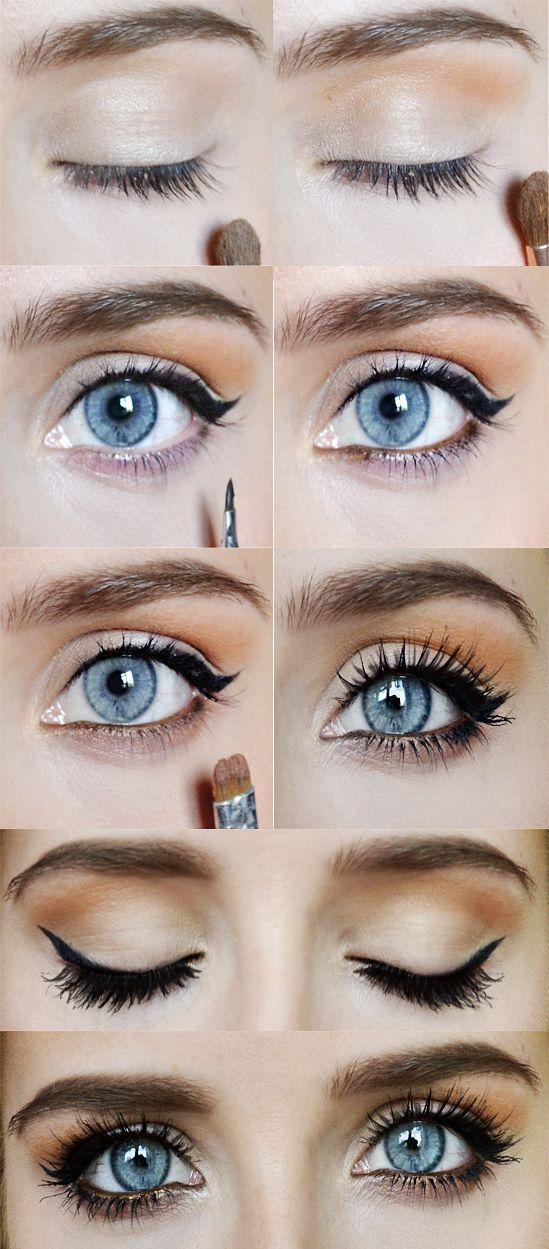 Прически для голубых глаз