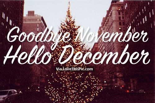 Goodbye November, Hello December Pictures, Photos, and Images for ...