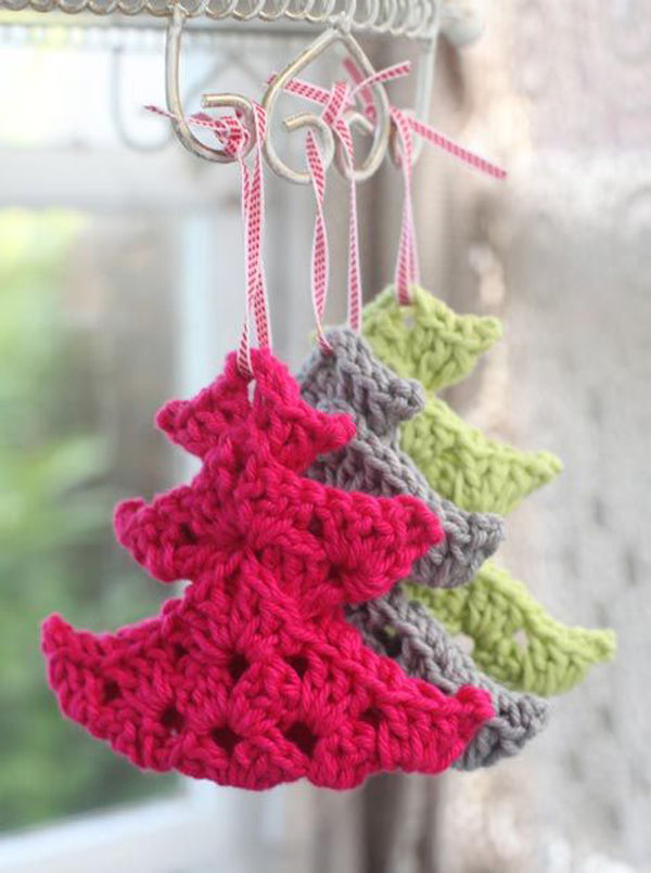 Cute Crocheted Christmas Tree Ornaments Pictures Photos