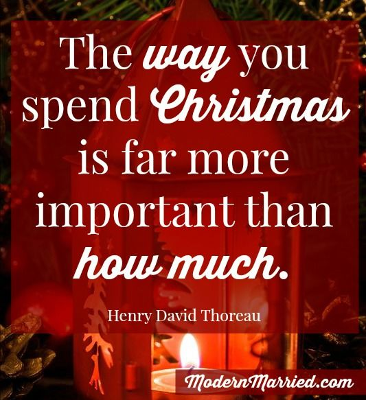 the way you spend christmas is far more important than how much