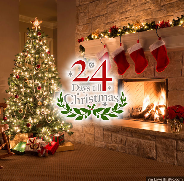 24 days until christmas quote - Countdown Till Christmas Decoration