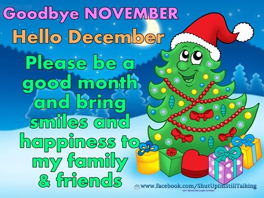 Goodbye November Hello December Please Bring Happiness Pictures, Photos, and ...