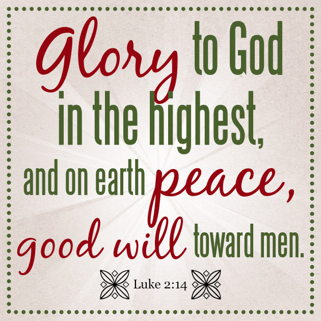 Glory To God In The Highest And On Earth Peace, Good Will Toward Men Pictures, Photos, and ...