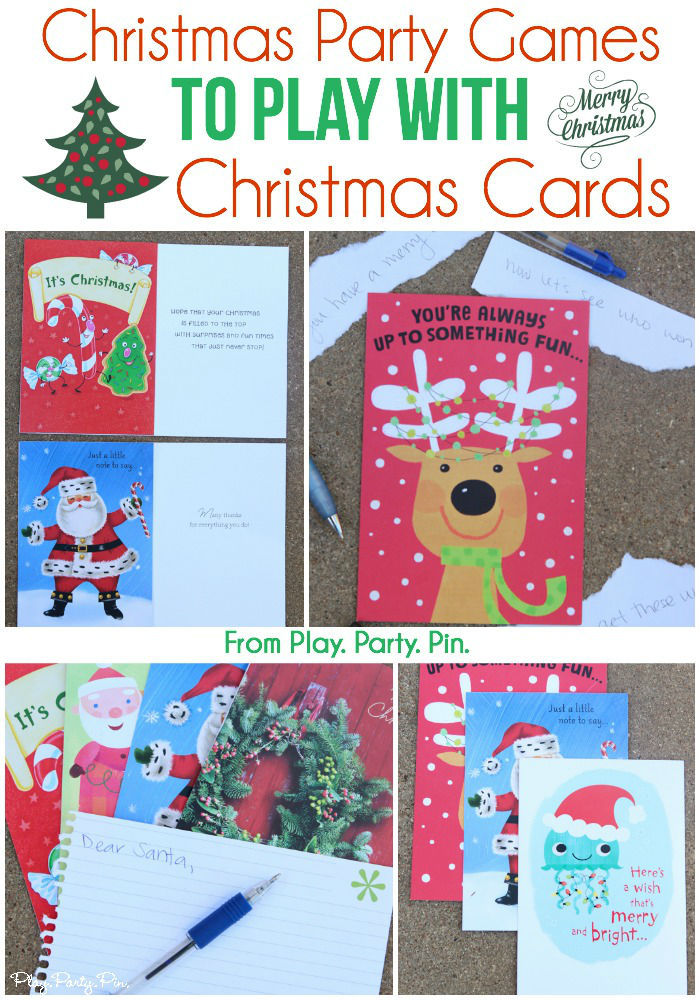 Christmas Party Games To Play With Christmas Cards Pictures ...