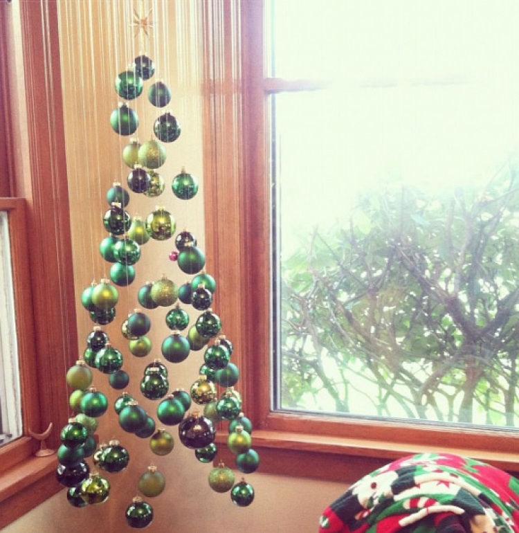 suspended christmas ornament tree pictures photos and images for