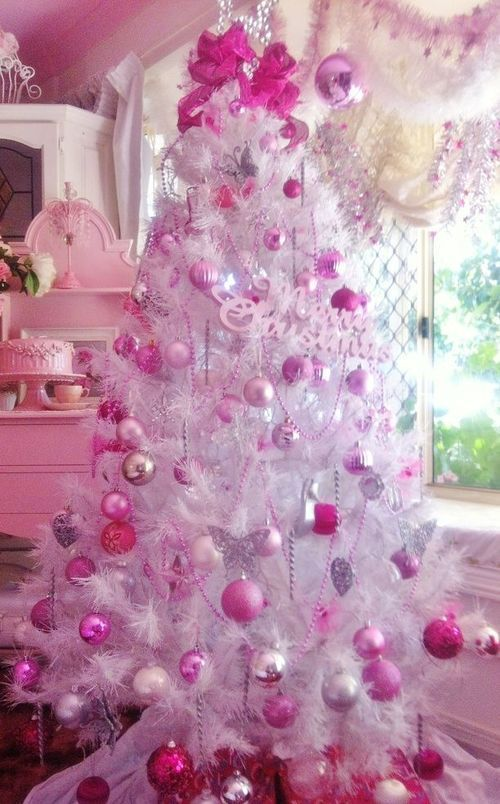 pink christmas tree pictures photos and images for. Black Bedroom Furniture Sets. Home Design Ideas