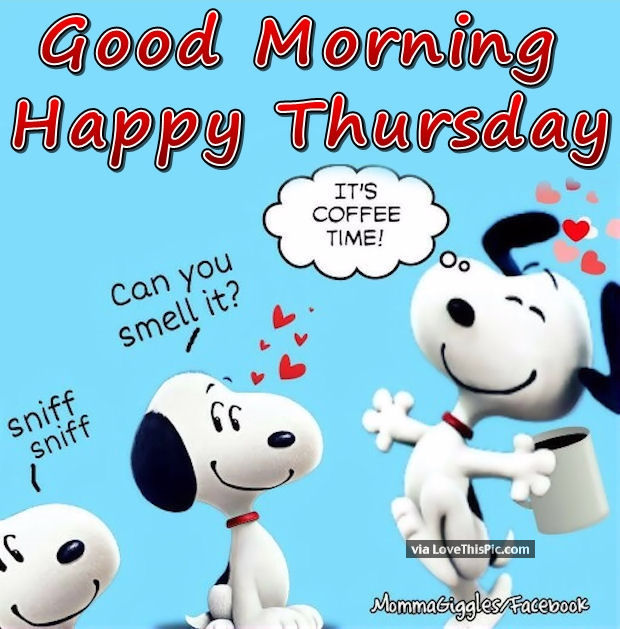 Good Morning Snoopy Quotes : Good morning happy thursday snoopy pictures photos and