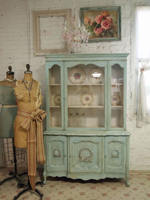 Shabby Chic Mint Green Hutch Pictures Photos And Images