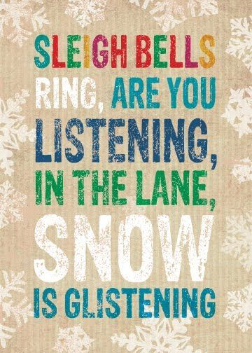 Sleigh Bells Ring, Are You Listening, In The Lane, Snow Is Glistening Picture...