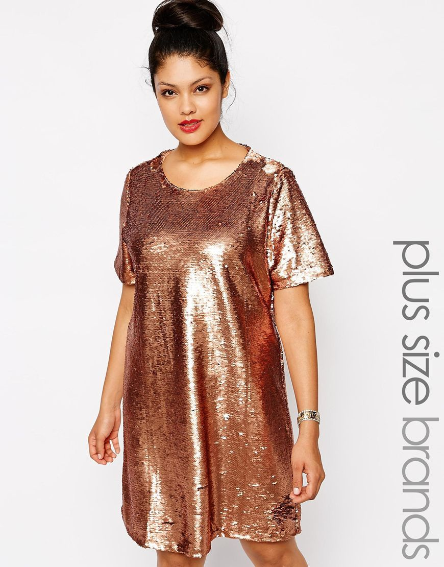 plus size sequin t shirt dress