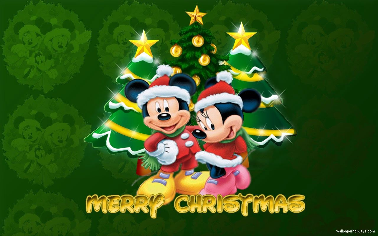 219035 Mickey Mouse Merry Christmas Wallpaper