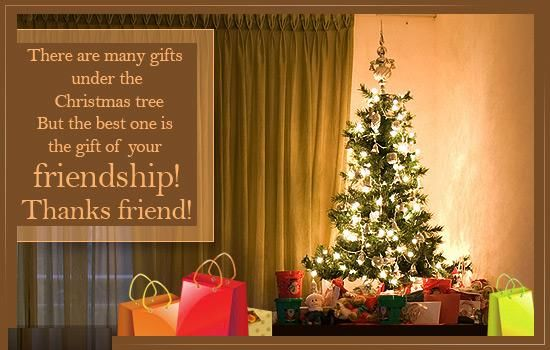 your friendship is the best christmas gift