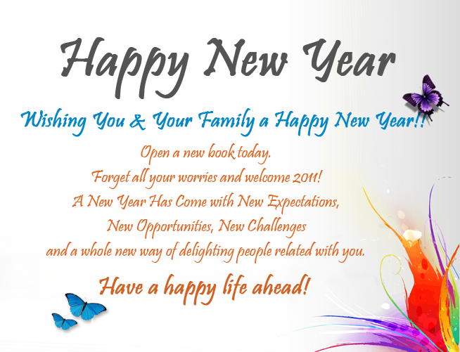 happy new year quote for friends and family
