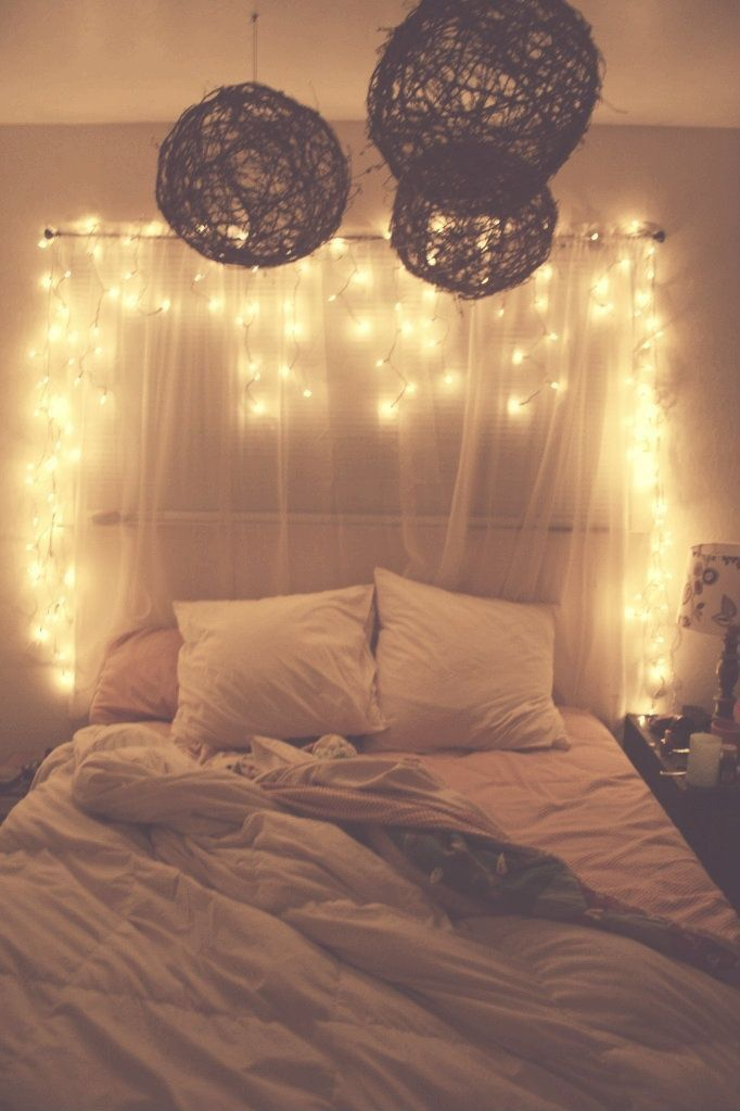 Hanging christmas lights in your bedroom pictures photos for Bedroom hanging lights
