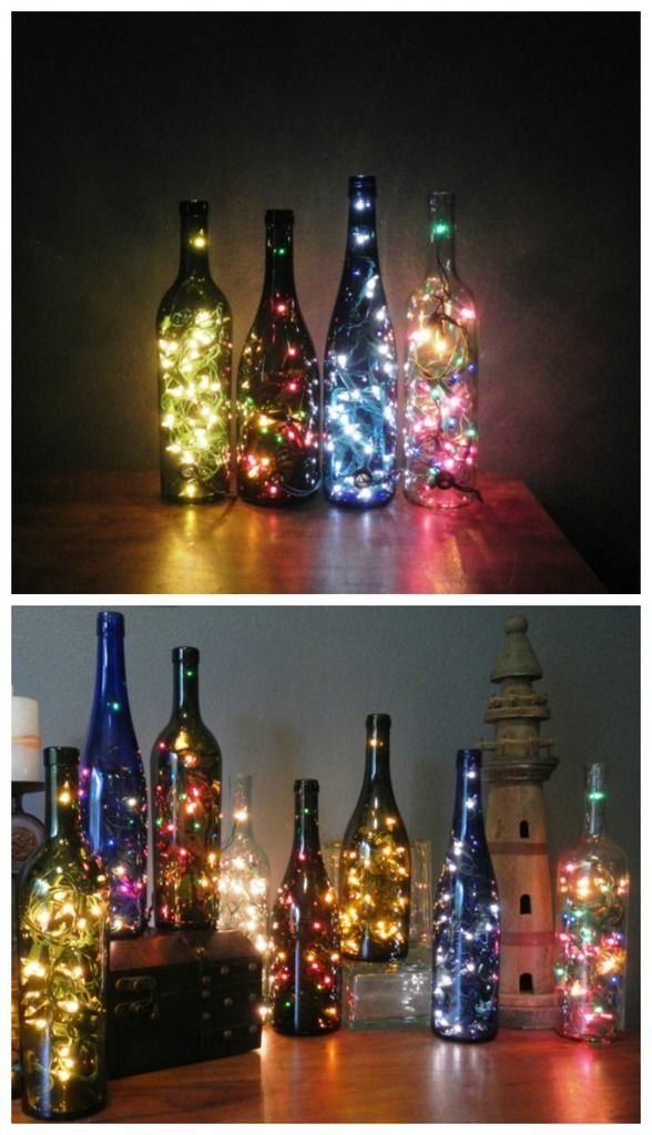 christmas lights in a bottle