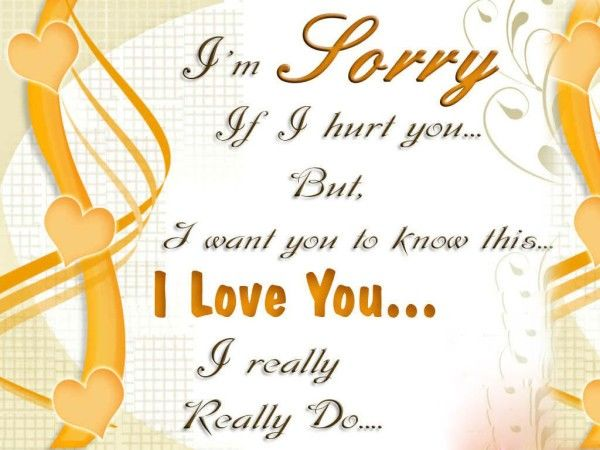 I Am Sorry If I Hurt You But I Love You Pictures, Photos