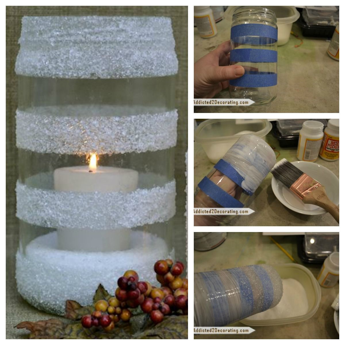 DIY WInter Snow Candles Pictures Photos And Images For