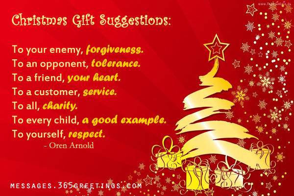 Merveilleux Christmas Gift Suggestions Quote