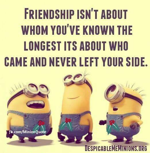 Funny Minion Quotes About Friends: Friendship Isn't About Whom You've Known The Longest Its