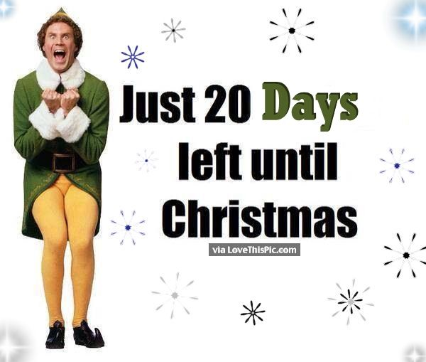Just 20 Days Until Christmas Pictures