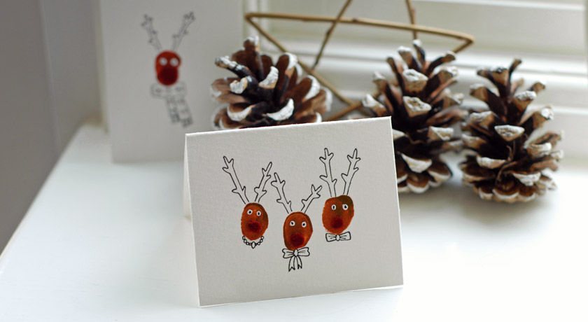 Handmade reindeer christmas cards pictures photos and for Reindeer christmas card craft