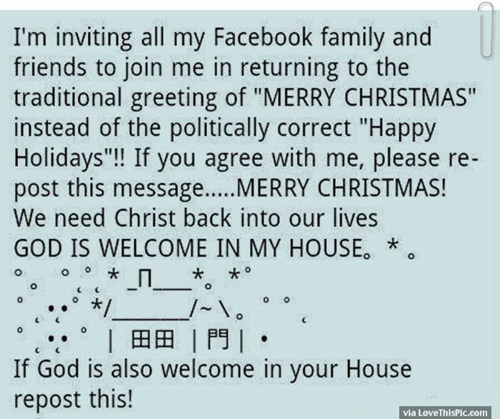 Merry Christmas Quote For Facebook Friends An Family Pictures ...