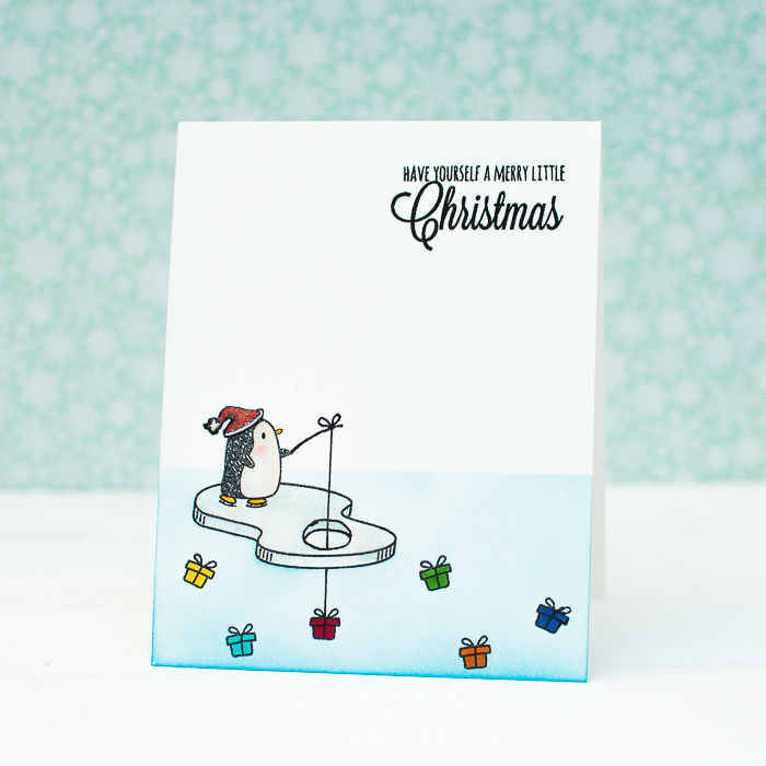 Christmas Card Using Penguin Image Pictures, Photos, And
