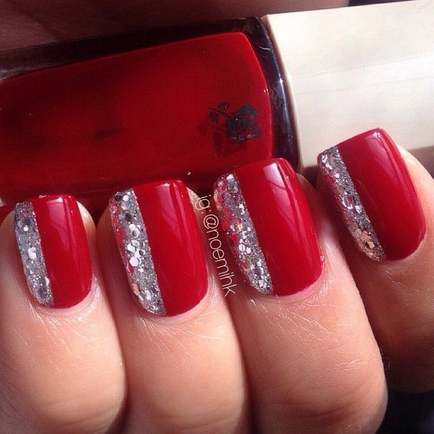 Nail Art Further Long Red Nail Designs As Well As Robin Moses Nail Art