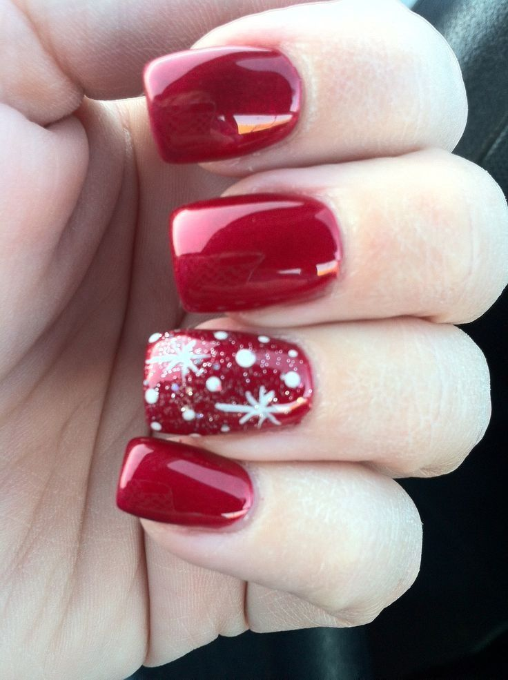 red christmas nails - Red Christmas Nails