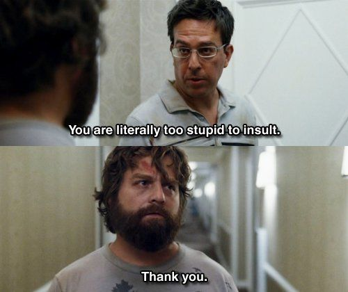 Hangover Movie Quotes Funniest Lines: You Are Literally Too Stupid To Insult Pictures, Photos