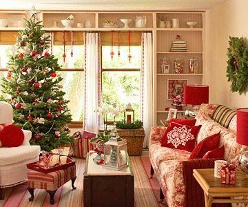 red and white christmas decorations pictures, photos, and images