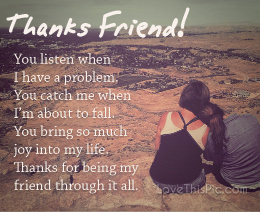 Friendship Quotes Love Pinterest: Thanks Friend Pictures, Photos, And Images For Facebook