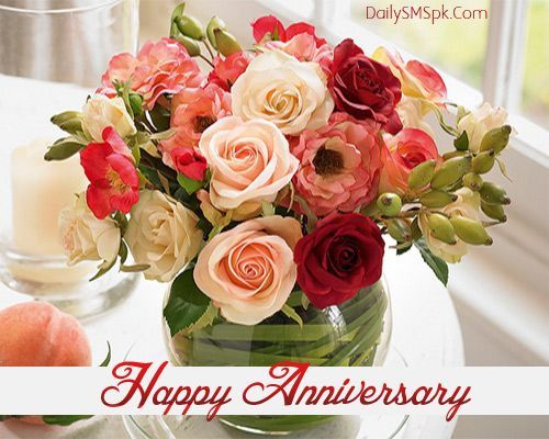 wedding anniversary flowers happy anniversary quote with flowers pictures photos and 8390