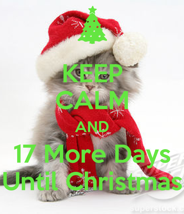 Keep Calm Only 17 More Days Until Christmas