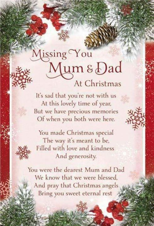 Missing You Mom And Dad At Christmas Time Pictures Photos
