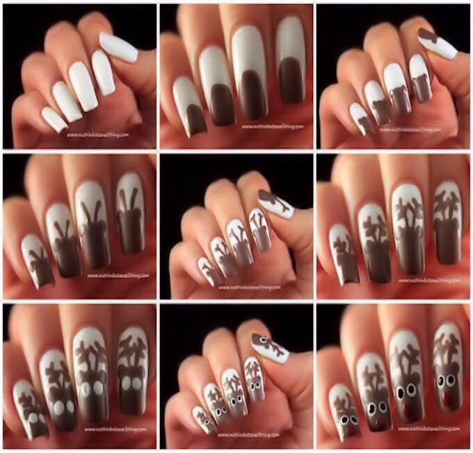 Acrylic Christmas Nail Art How You Can Do It At Home Pictures