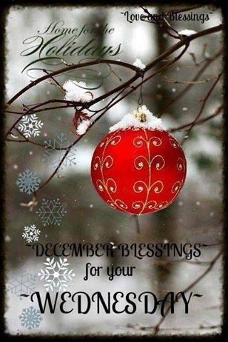 December Blessings For Your Wednesday Pictures Photos