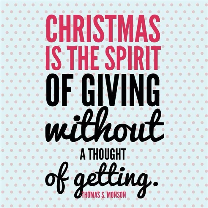 Christmas Eve Quotes Tumblr: Christmas Is The Spirit Of Giving Without A Thought Of