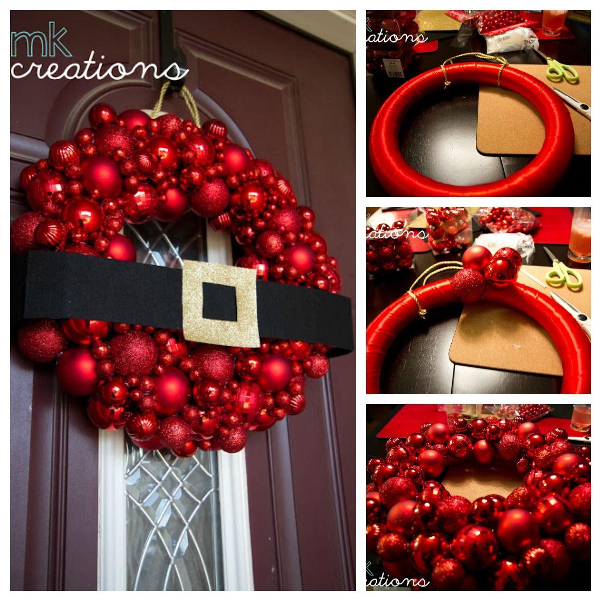 Diy Santa Ornament Wreath Tutorial Pictures Photos And