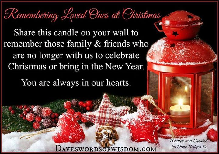 remembering loved ones at christmas time