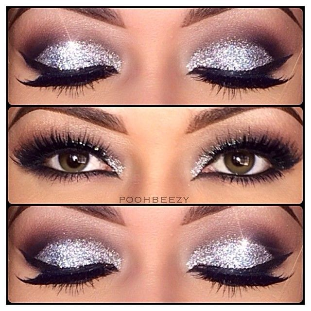 Silver Sparkle Eye Makeup Pictures, Photos, And Images For