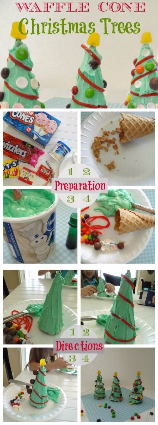 How To Make Waffle Cone Christmas Trees Pictures Photos And Images For Facebook Tumblr Pinterest And Twitter