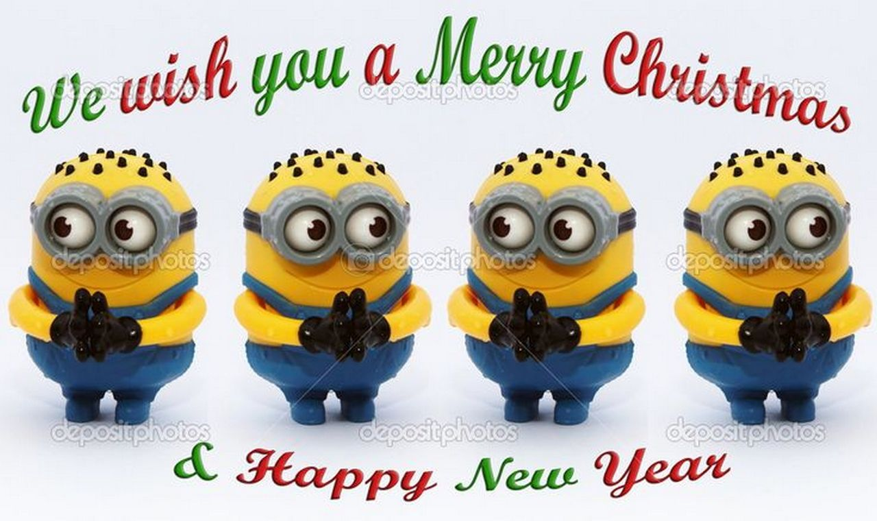 minion merry christmas happy new year quote - Minion Merry Christmas