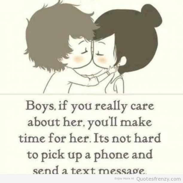 Time Quotes For Her: Boys If You Really Care About Her, You'll Make Time For