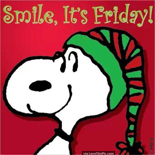snoopy christmas smile its friday quote
