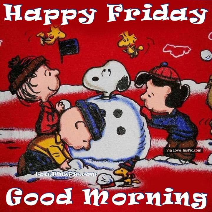 Friday Christmas Quotes: Snoopy Happy Friday Good Morning Quote Pictures, Photos