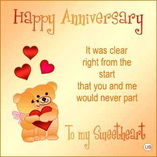 Beautiful Happy Anniversary To My Sweetheart