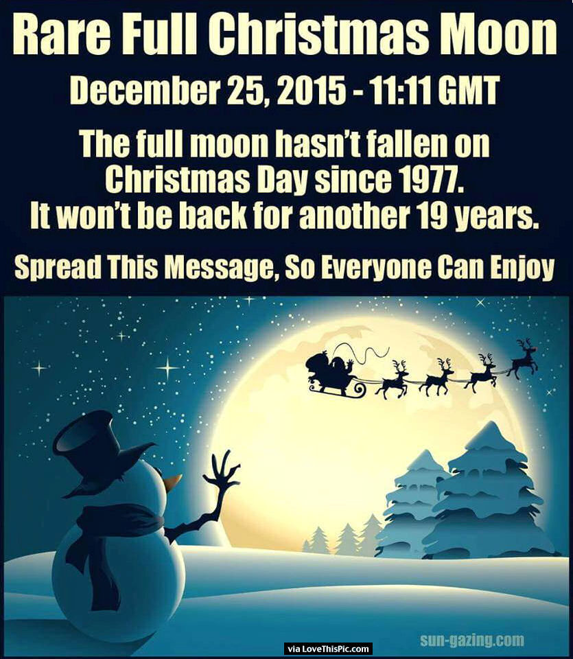 Rare Christmas Full Moon Pictures, Photos, and Images for Facebook ...