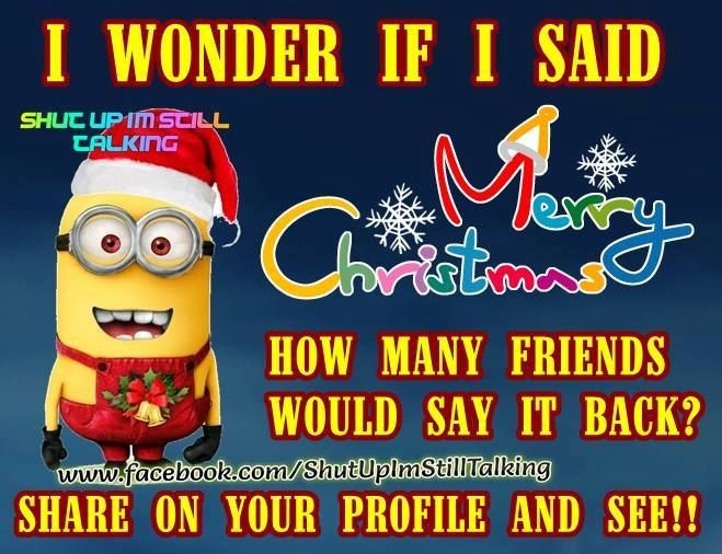 merry christmas minion quote - Merry Christmas Minions