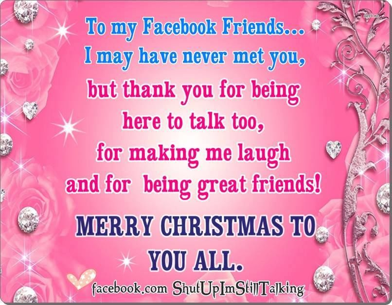 To My Facebook Friends Merry Christmas Pictures, Photos, and ...